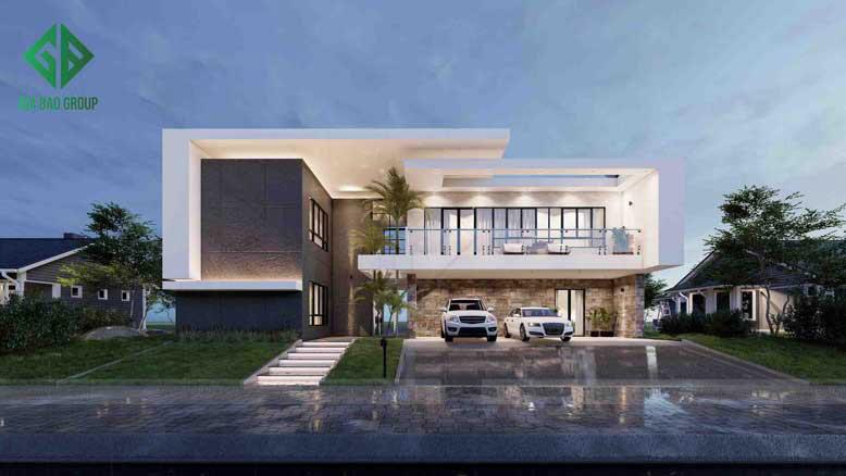 Thiết kế nhà phố 1 trệt 1 lầu