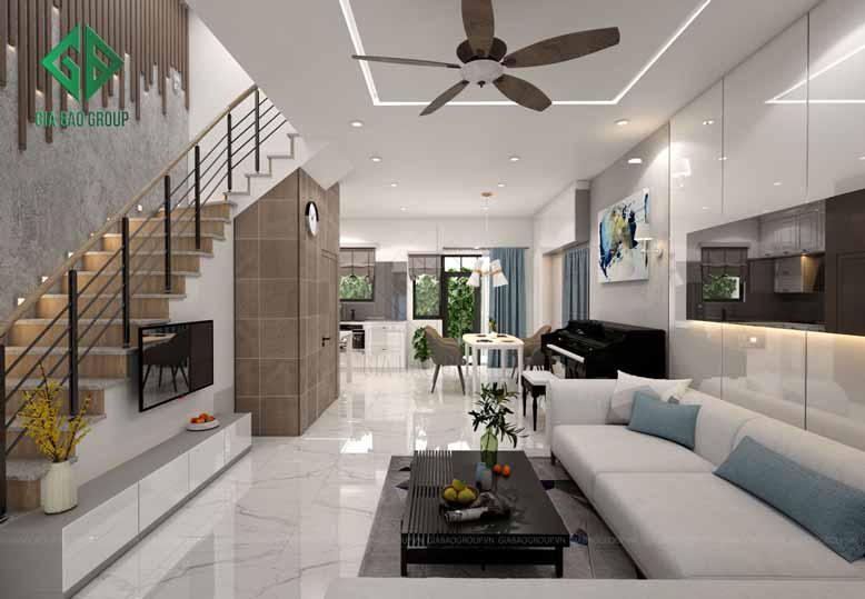 Thiết kế nội thất nhà phố hiện đại thường mang đến sự tối giản