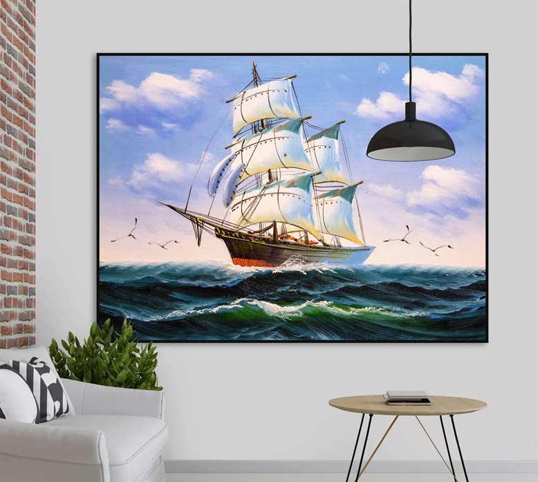 Bức tranh phong cảnh đẹp với ý nghĩa thuận buồm xuôi gió trong công việc