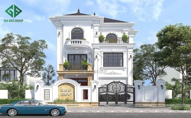 Biệt thự 3 tầng tân cổ điển đẹp lộng lẫy kiêu sa