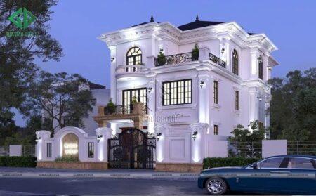 Chiêm ngưỡng mẫu thiết kế biệt thự 3 tầng tân cổ điển kiêu sa, lộng lẫy