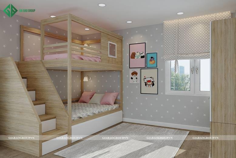Hồ sơ nội thất phòng ngủ em bé dễ thương, ngọt ngào