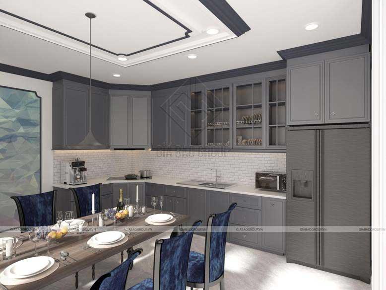 Phòng bếp theo phong cách tân cổ điển
