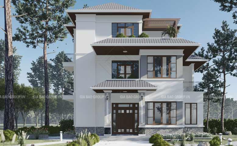 Mẫu màu sơn nhà mái thái hợp với phong thủy của gia chủ sinh năm Nhâm Thìn