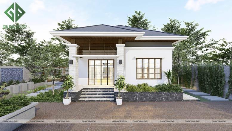 Một thiết kế nhà cấp 4 kèm sân vườn xanh mát, lý tưởng