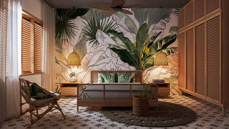 Thiết kế nội thất nhà phố phong cách nhiệt đới
