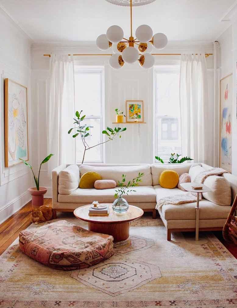 Mang thiên nhiên vào không gian phòng khách mới mẻ hơn