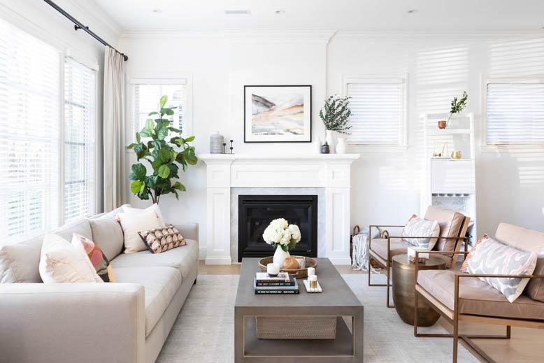Thiết kế phòng khách đẹp với không gian tươi mát