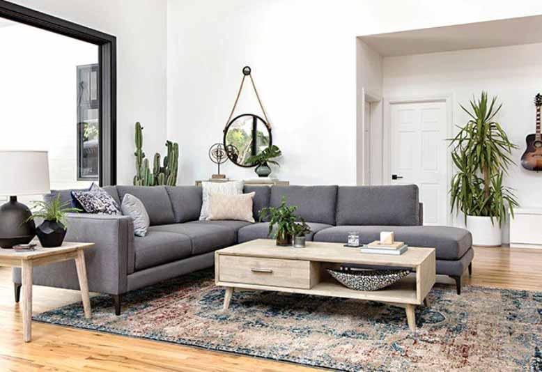 Mẫu ghế sofa xám phù hợp cho không gian phòng khách đẹp