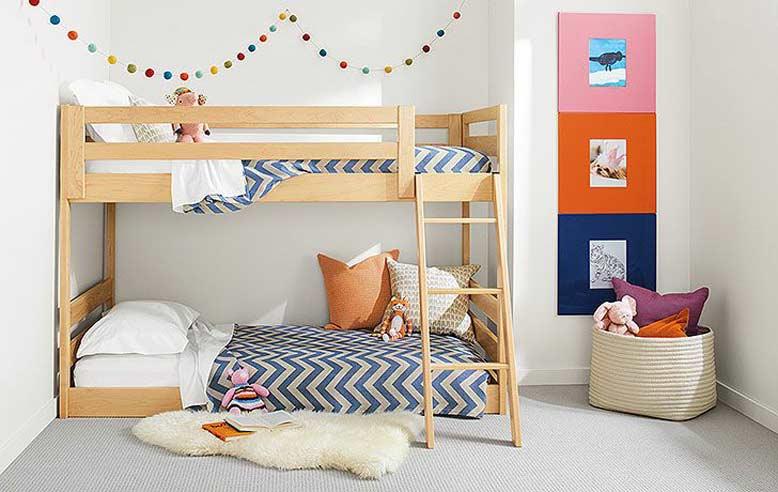 Thiết kế phòng ngủ cho bé gái yêu thích sự hiện đại và đơn giản