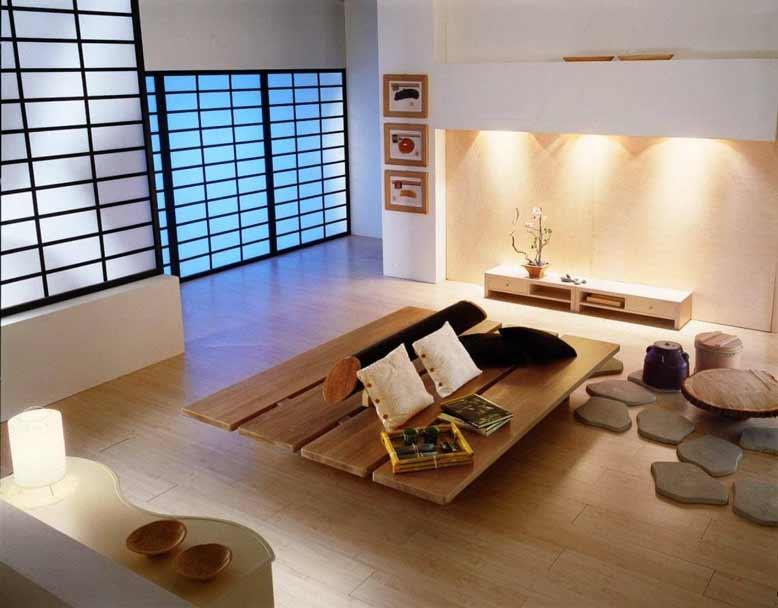 Vật liệu thiên nhiên được chú trọng trong nội thất Nhật Bản