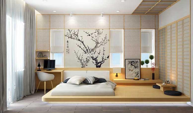 Nội thất Nhật Bản mang nét nhẹ nhàng từ màu sắc của đồ nội thất