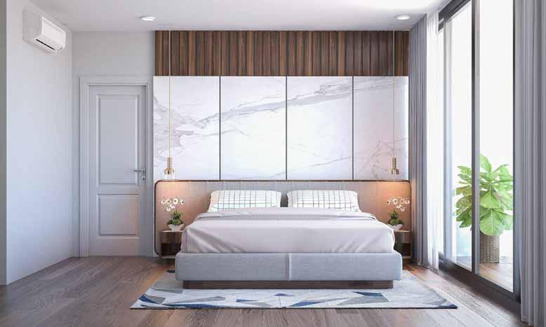 Thiết kế phòng ngủ mang phong cách tối giản cần dùng ít đồ nội thất