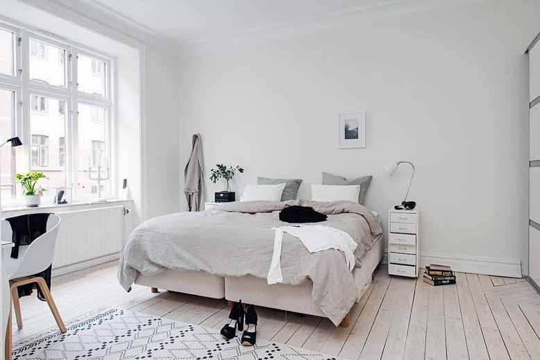 Thiết kế phòng ngủ phong cách Scandinavian tạo sự dễ chịu, thoải mái