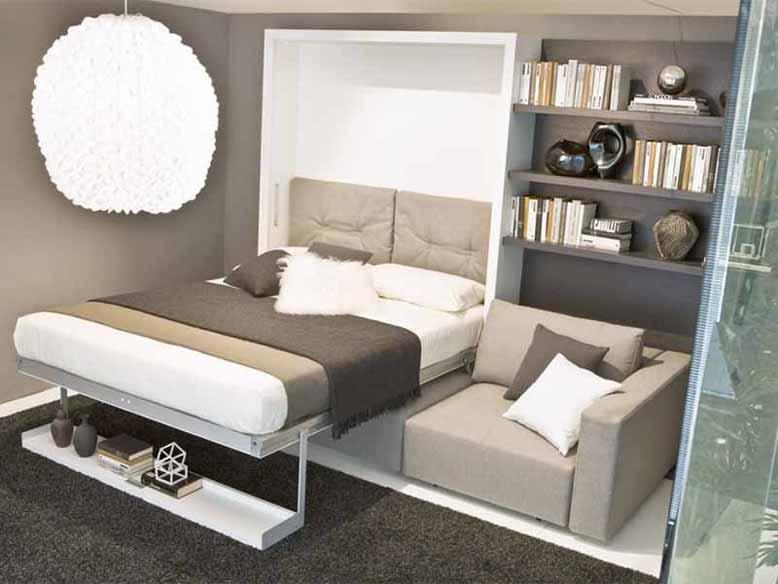 Nội thất thông minh tích hợp ghế sofa kiêm giường ngủ và tủ
