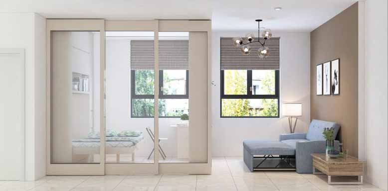 Vách ngăn nội thất thông minh thu gọn phòng ngủ, mở rộng phòng khách
