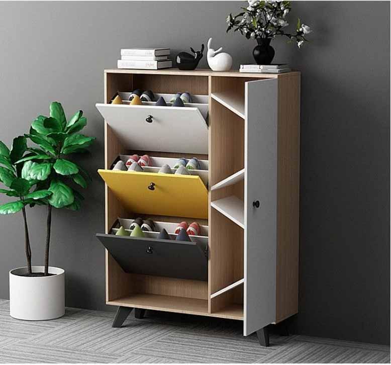 Tủ giày cánh cung đẹp mắt cho nội thất thông minh và không gian xanh