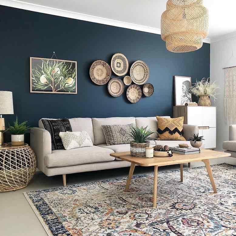 Phá cách trang trí nội thất phòng khách với họa tiết sáng tạo