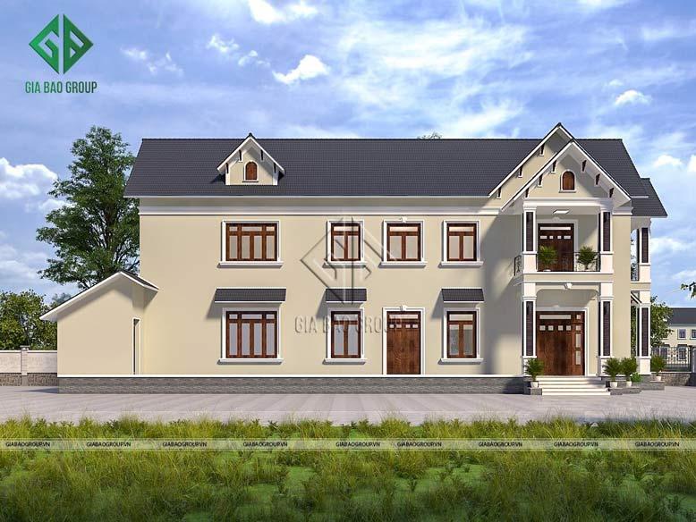 Kiến trúc của mẫu nhà mái Thái đồ sộ, vững chãi