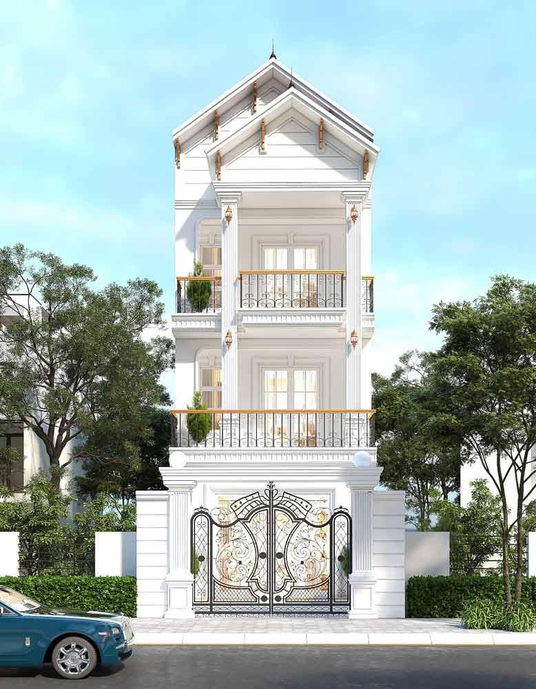 Vẻ đẹp tinh tế, sang trọng của nhà phố tân cổ điển 3 tầng