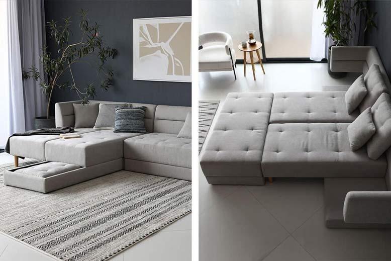 Đồ nội thất thông minh cho phòng khách với tông màu thời thượng