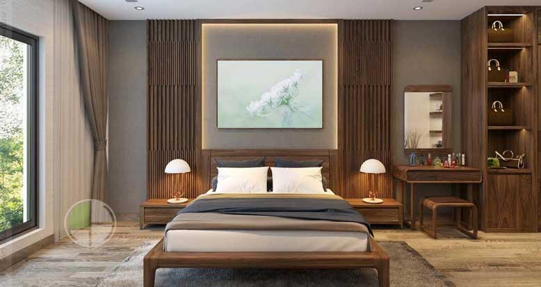 Phòng ngủ được thiết kế hướng đến sự tối giản
