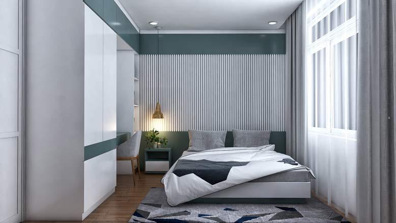 Phòng ngủ con trai đơn giản, lịch sự, gọn gàng