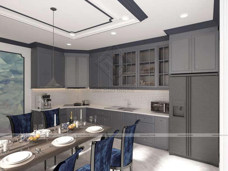 Thiết kế nội thất nhà bếp theo phong cách cổ điển