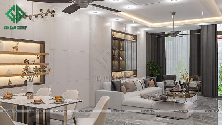 Nội thất nhà đẹp với phòng khách hiện đại, thời thượng