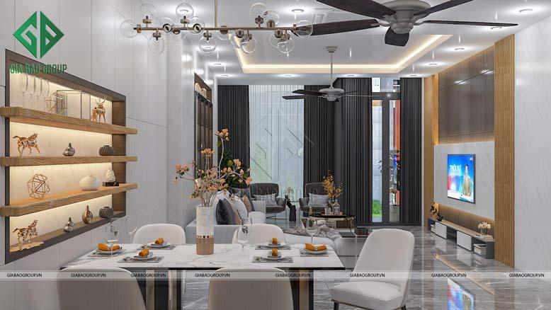 Nội thất nhà đẹp cho bàn ăn ấm áp