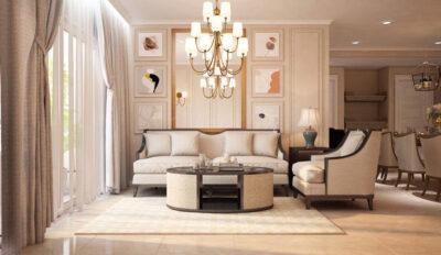 Khám phá thiết kế nội thất tân cổ điển đẹp, đẳng cấp tại căn hộ chung cư Sunrise City, quận 7