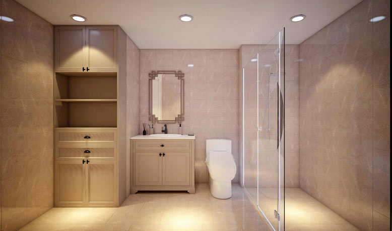 Phòng tắm tiện nghi và rộng rãi