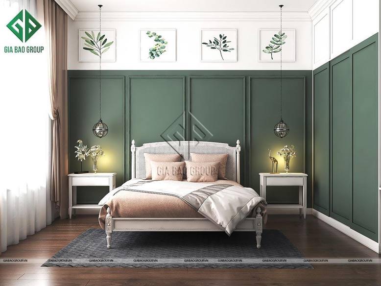 Phòng ngủ đẹp theo phong cách tân cổ điển từ KTS Gia Bảo Group