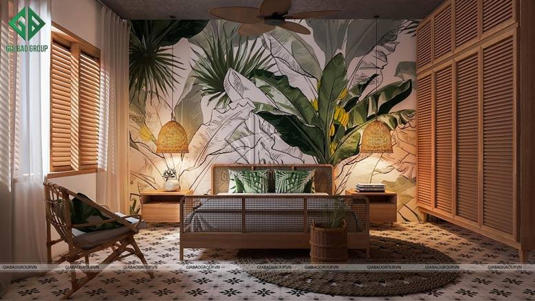 Mướt mắt với phòng ngủ đẹp theo phong cách nhiệt đới