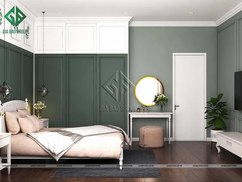 Gam màu trắng thanh nhã được ưa chuộng trong phòng ngủ đẹp tân cổ điển