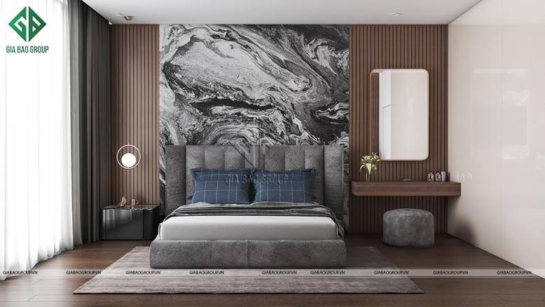 Màu sắc trung tính được tận dụng tối đa trong phòng ngủ đẹp, hiện đại
