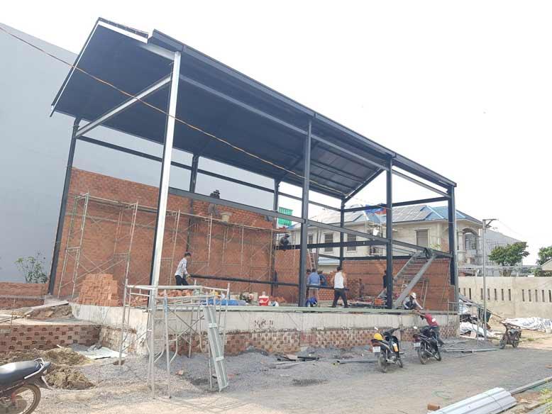 Toàn cảnh công trình thi công thực tế tại Long Thành
