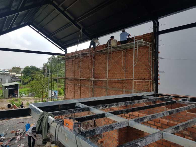 Tổng quan phần thi công bên trong của công trình