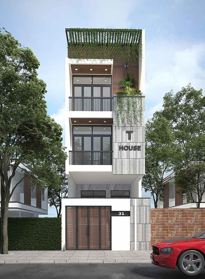 Mẫu thiết kế nhà lô phố hiện đại, ấn tượng từ KTS Gia Bảo Group