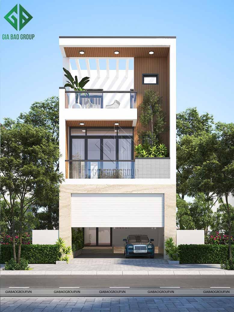 Mẫu thiết kế nhà lô phố 3 tầng hiện đại, đơn giản từ KTS Gia Bảo Group