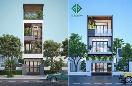 Xu hướng thiết kế nhà phố 5×20 theo phong cách hiện đại, sang trọng