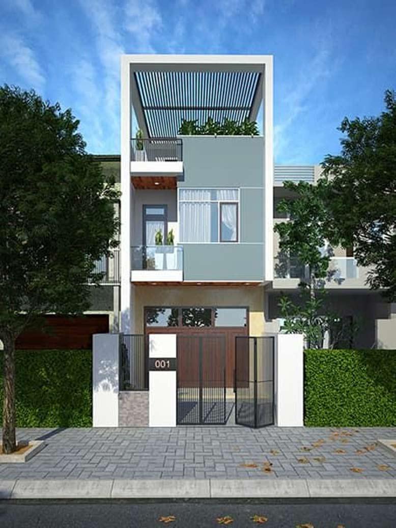 Thiết kế nhà phố mặt tiền 6m đơn giản, sang trọng