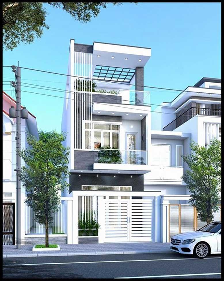 Thiết kế nhà phố mặt tiền 6m kiểu cách trang nhã và ấn tượng