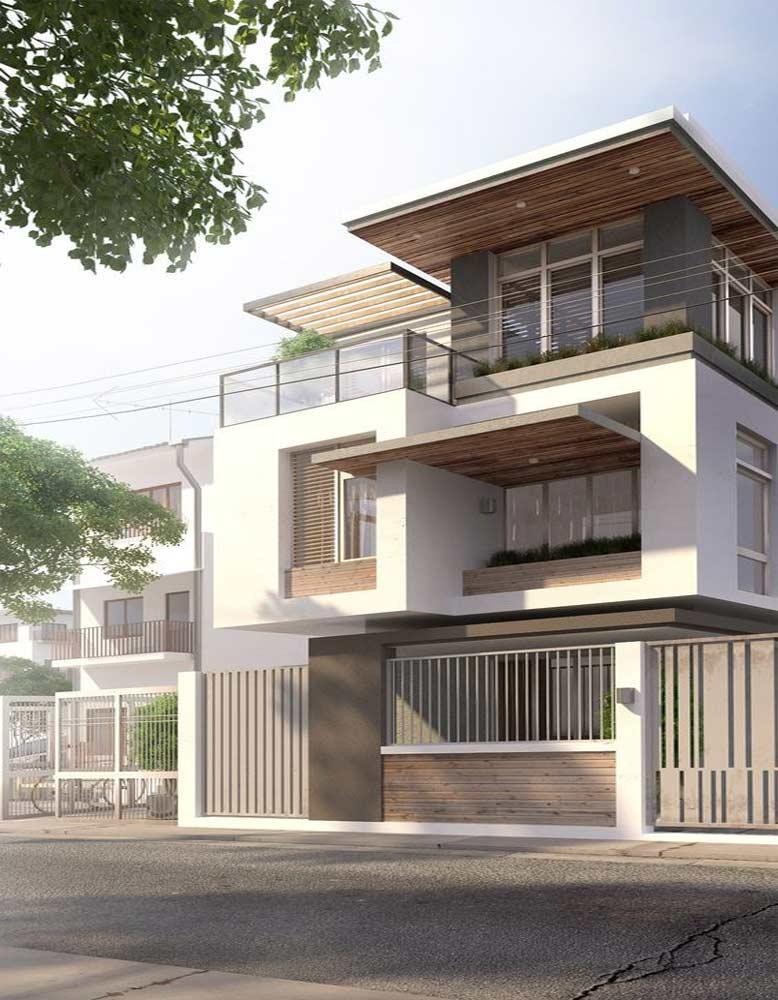 Tham khảo thiết kế nhà phố mặt tiền 6m hiện đại và ấn tượng