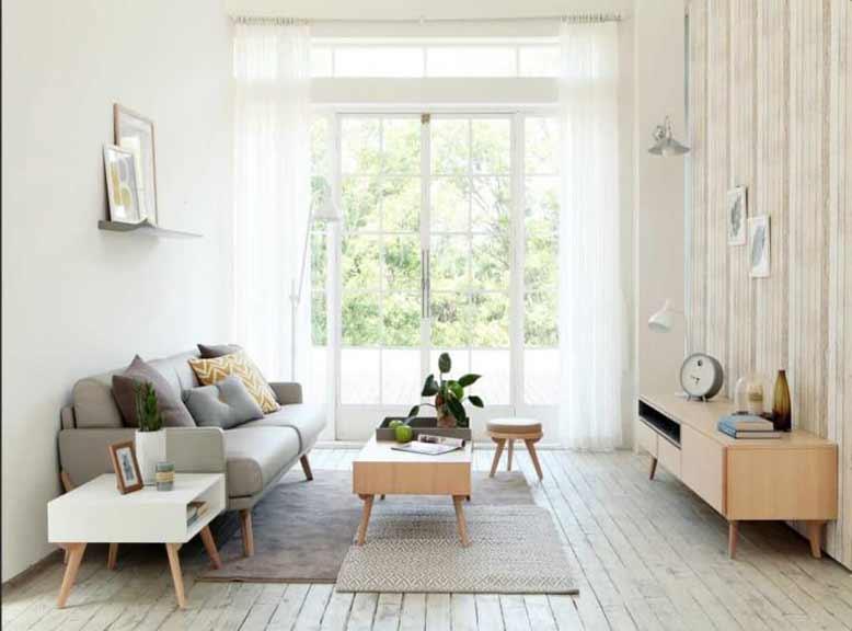 Sử dụng gam màu sáng làm tăng thêm nét hiện đại cho nội thất Hàn Quốc