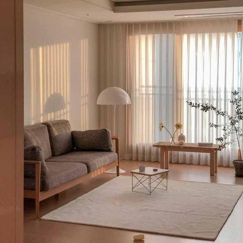 Không gian nội thất Hàn Quốc cho phòng khách ấn tượng