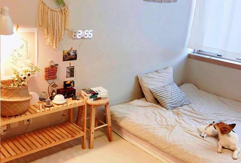 Nội thất Hàn Quốc với giường ngủ gấp gọn tiện dụng