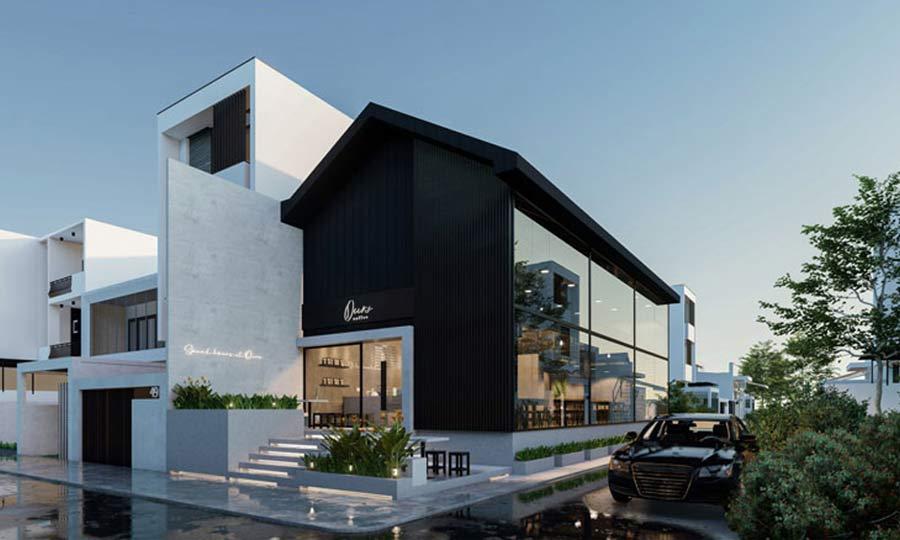 Thi công thiết kế nội thất quán cafe đẹp phong cách hiện đại- Ours Coffee Long Thành – Đồng Nai