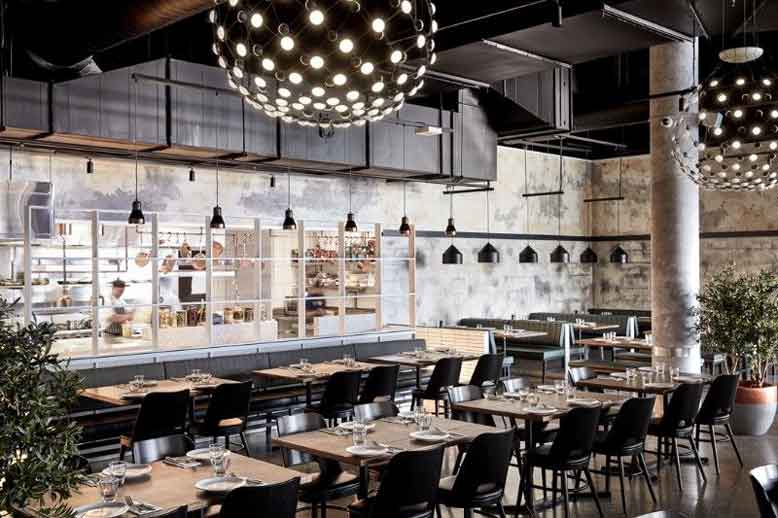 Thiết kế nội thất nhà hàng phong cách hiện đại, đơn giản