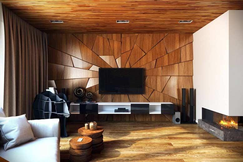 Tạo kiểu cho bức tường với gạch vân gỗ